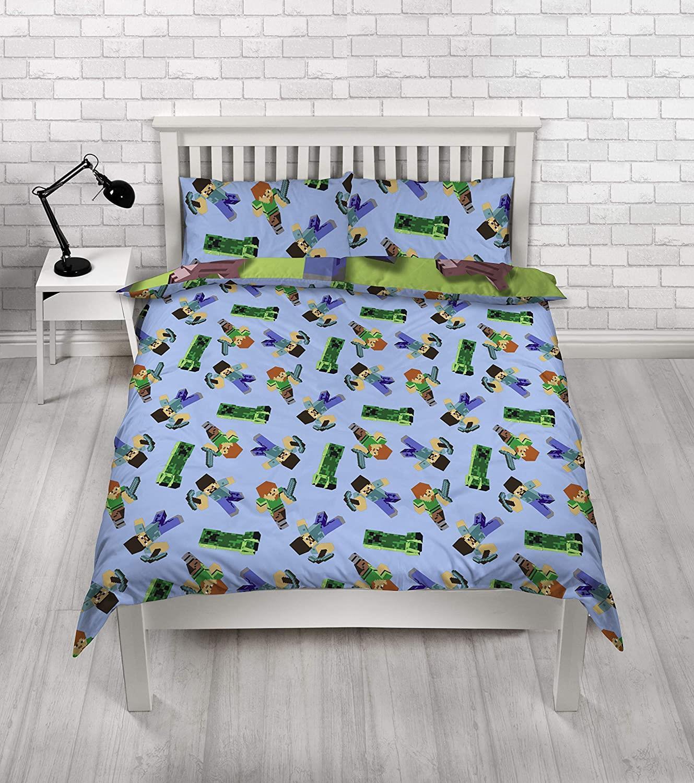 miniatura 67 - Minecraft Biancheria da letto Creeper PIUMONI Asciugamano Cuscino Coperta-venduta separatamente