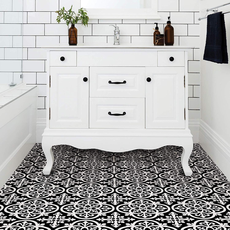 WallPops-Bathroom-Kitchen-Peel-amp-Stick-Floor-Tiles-Vinyl-10pk-12-034-x-12-034 thumbnail 15