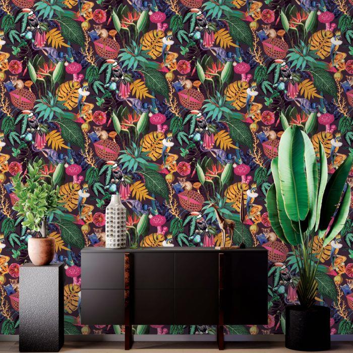 Fine-Holden-Decor-Congo-Tropical-Rainforest-Wallpaper-Assorted-Colours thumbnail 27