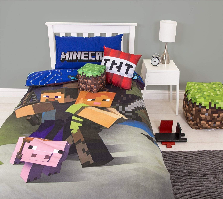 miniatura 78 - Minecraft Biancheria da letto Creeper PIUMONI Asciugamano Cuscino Coperta-venduta separatamente