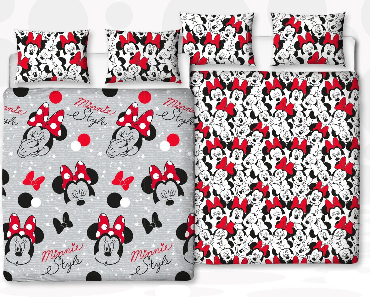 Disney-Mickey-Minnie-mouse-fundas-nordicas-SINGLE-doble-Ropa-De-Cama-Reversible miniatura 34