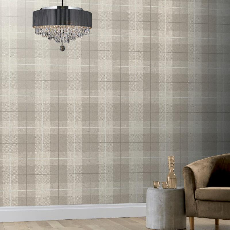 Checked-Tartan-Wallpaper-Textured-Glitter-Country-Check-Modern-Collection thumbnail 33