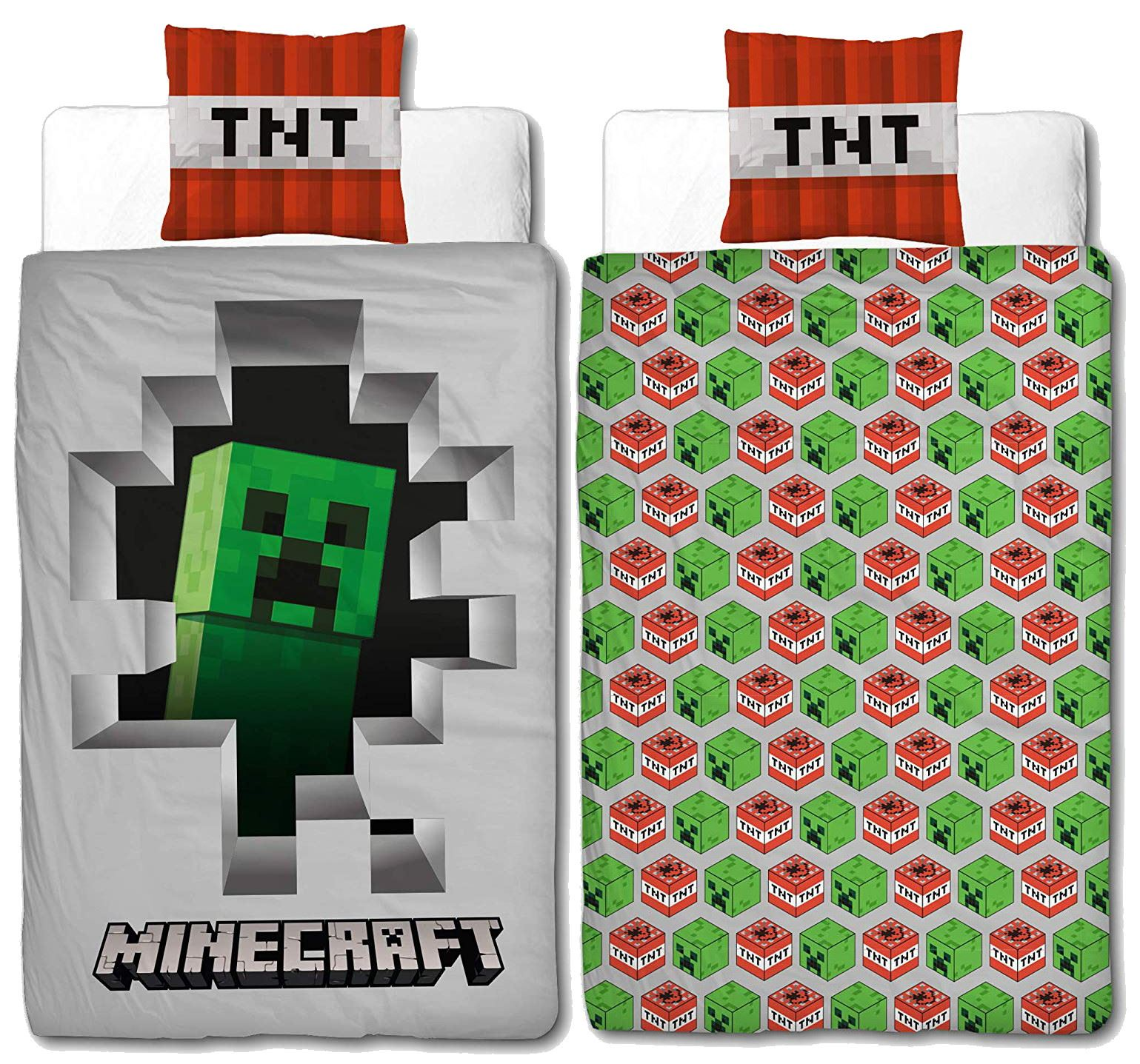 Official-Minecraft-Licensed-Duvet-Covers-Single-Double-Creeper-TNT-Bedding thumbnail 14