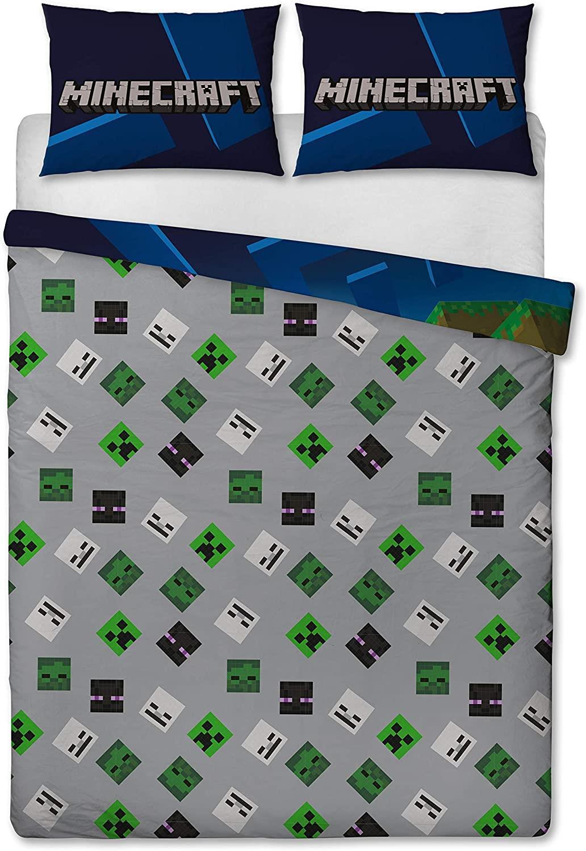 miniatura 22 - Minecraft Biancheria da letto Creeper PIUMONI Asciugamano Cuscino Coperta-venduta separatamente