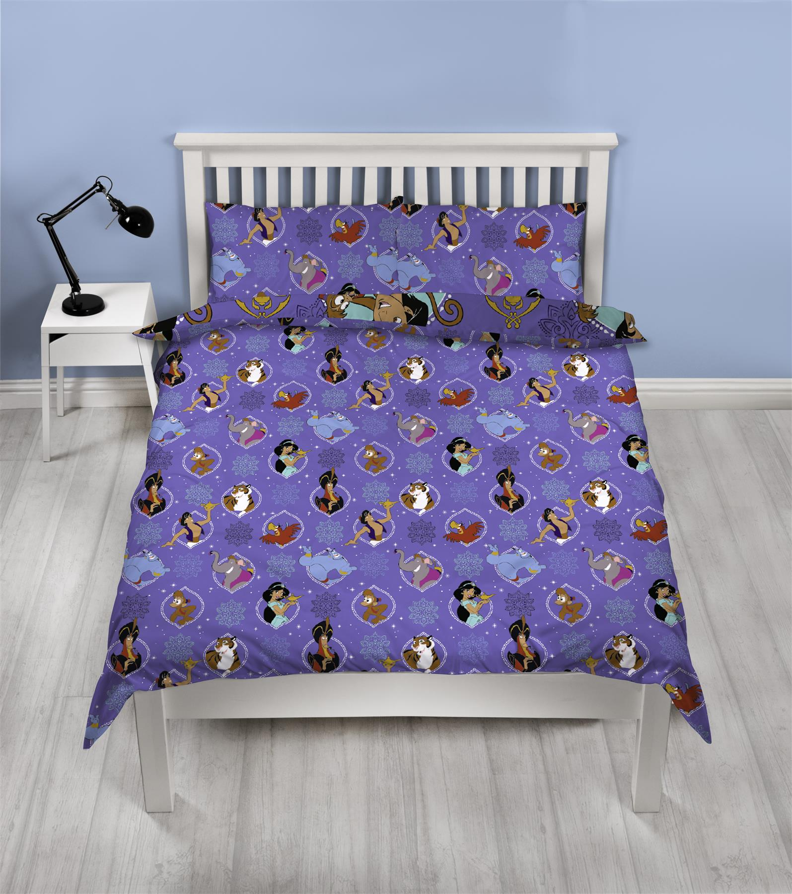 Official-Disney-Aladdin-Licensed-Duvet-Covers-Single-Double-Bedding-Genie thumbnail 10