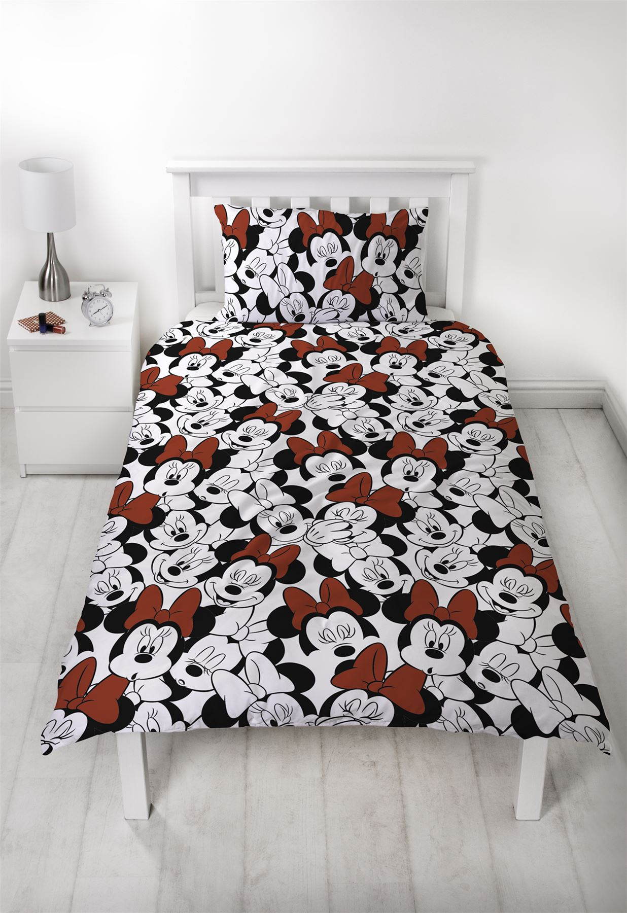 Disney-Minnie-Mouse-039-Cute-039-Single-Double-Duvet-Cover-Reversible-Bedding-Set