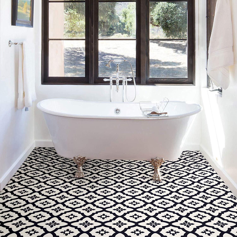 WallPops-Bathroom-Kitchen-Peel-amp-Stick-Floor-Tiles-Vinyl-10pk-12-034-x-12-034 thumbnail 7