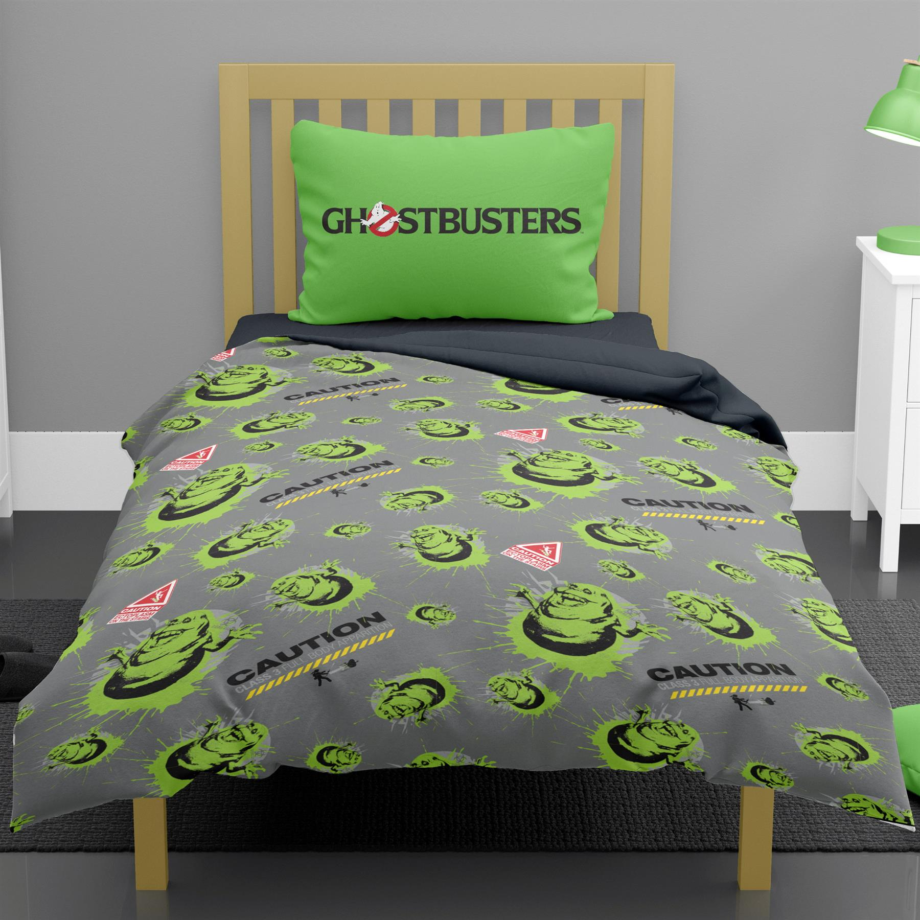Ghostbusters-Glow-in-the-Dark-Single-Double-Duvet-Cover-Reversible-Bedding thumbnail 5