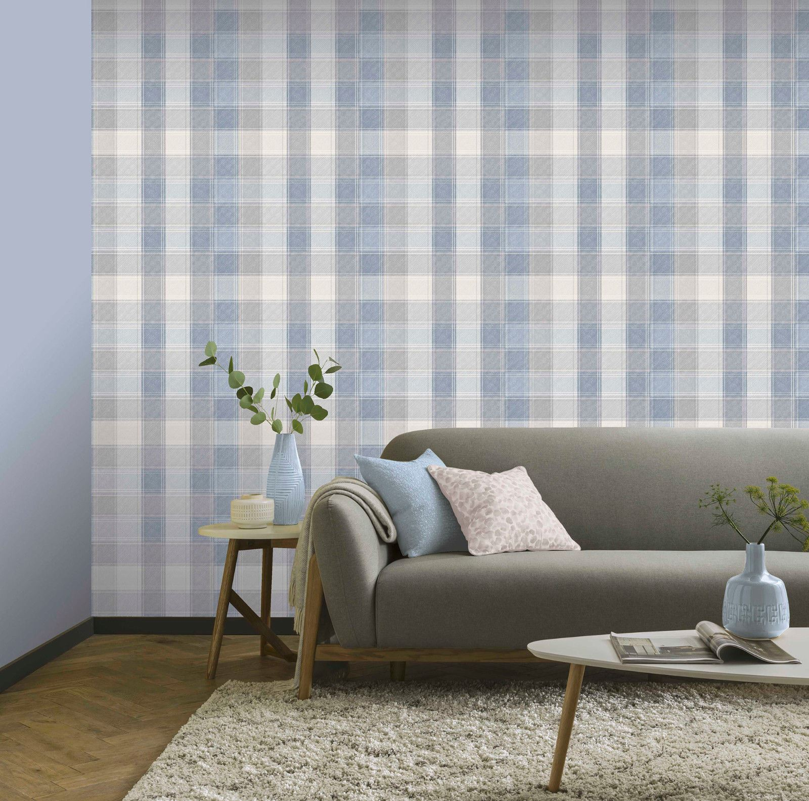 Checked-Tartan-Wallpaper-Textured-Glitter-Country-Check-Modern-Collection thumbnail 11