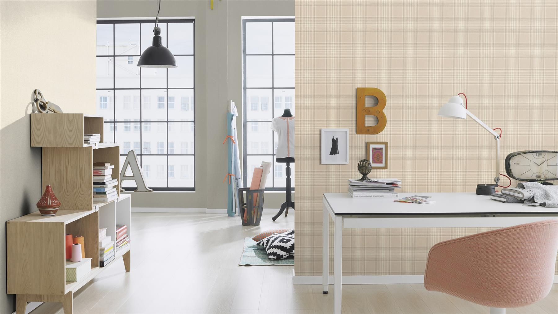 Checked-Tartan-Wallpaper-Textured-Glitter-Country-Check-Modern-Collection thumbnail 9