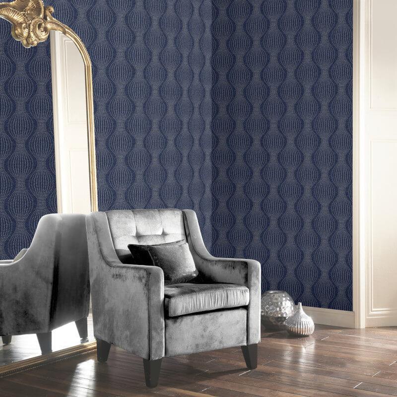 Arthouse-Calico-Range-Trellis-Floral-Dot-Stripe-amp-Plain-Textured-Wallpaper thumbnail 7