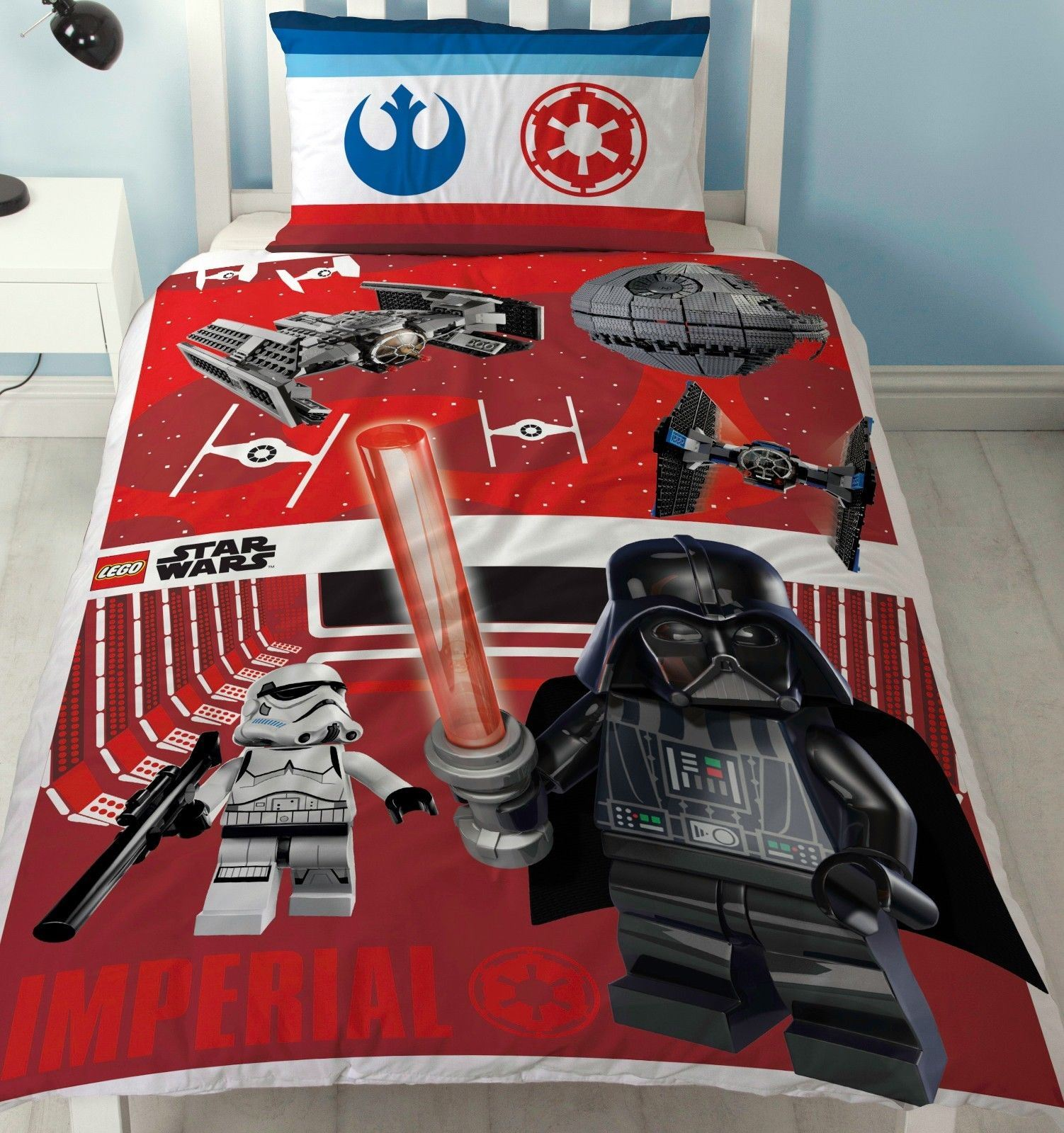 Official-Star-Wars-Licensed-Duvet-Covers-Single-Double-Jedi-Darth-Vader-Lego thumbnail 4