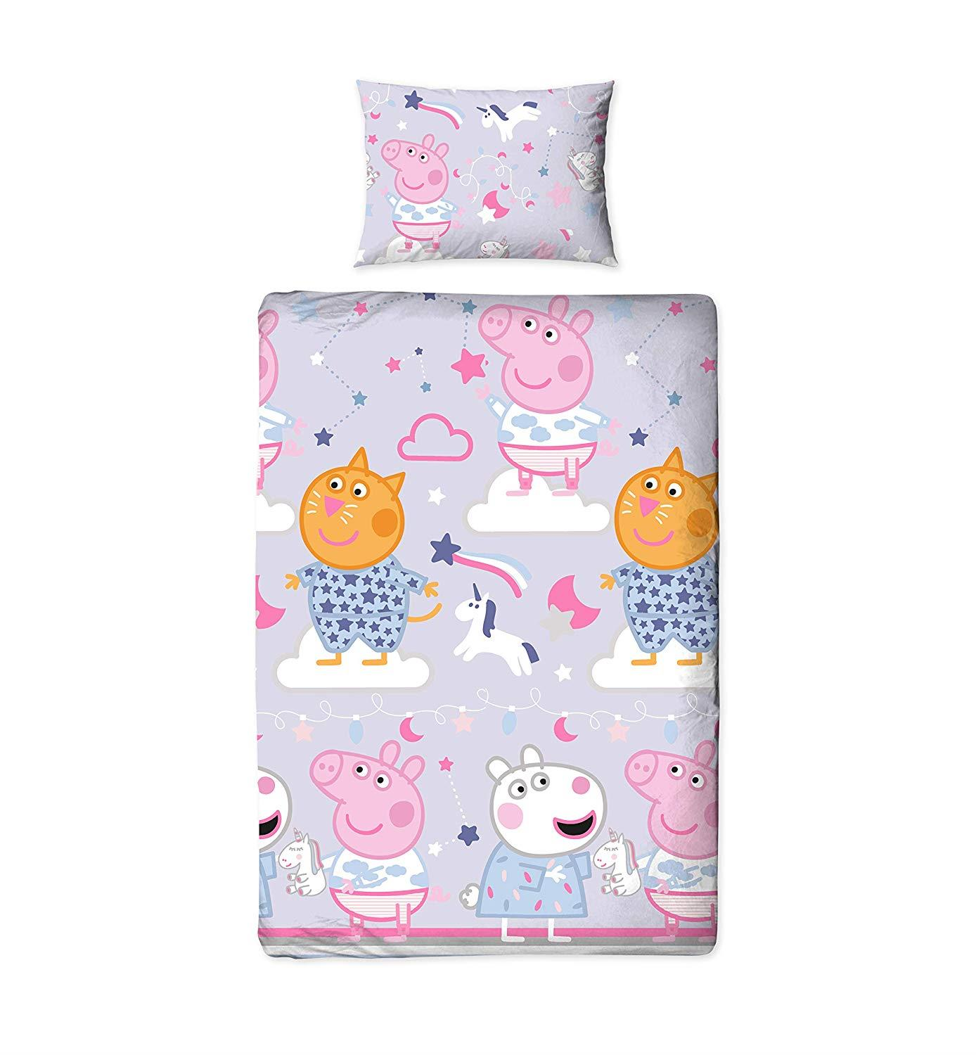 Oficial-Peppa-Pig-George-fundas-nordicas-SINGLE-doble-Ropa-De-Cama-Reversible miniatura 33