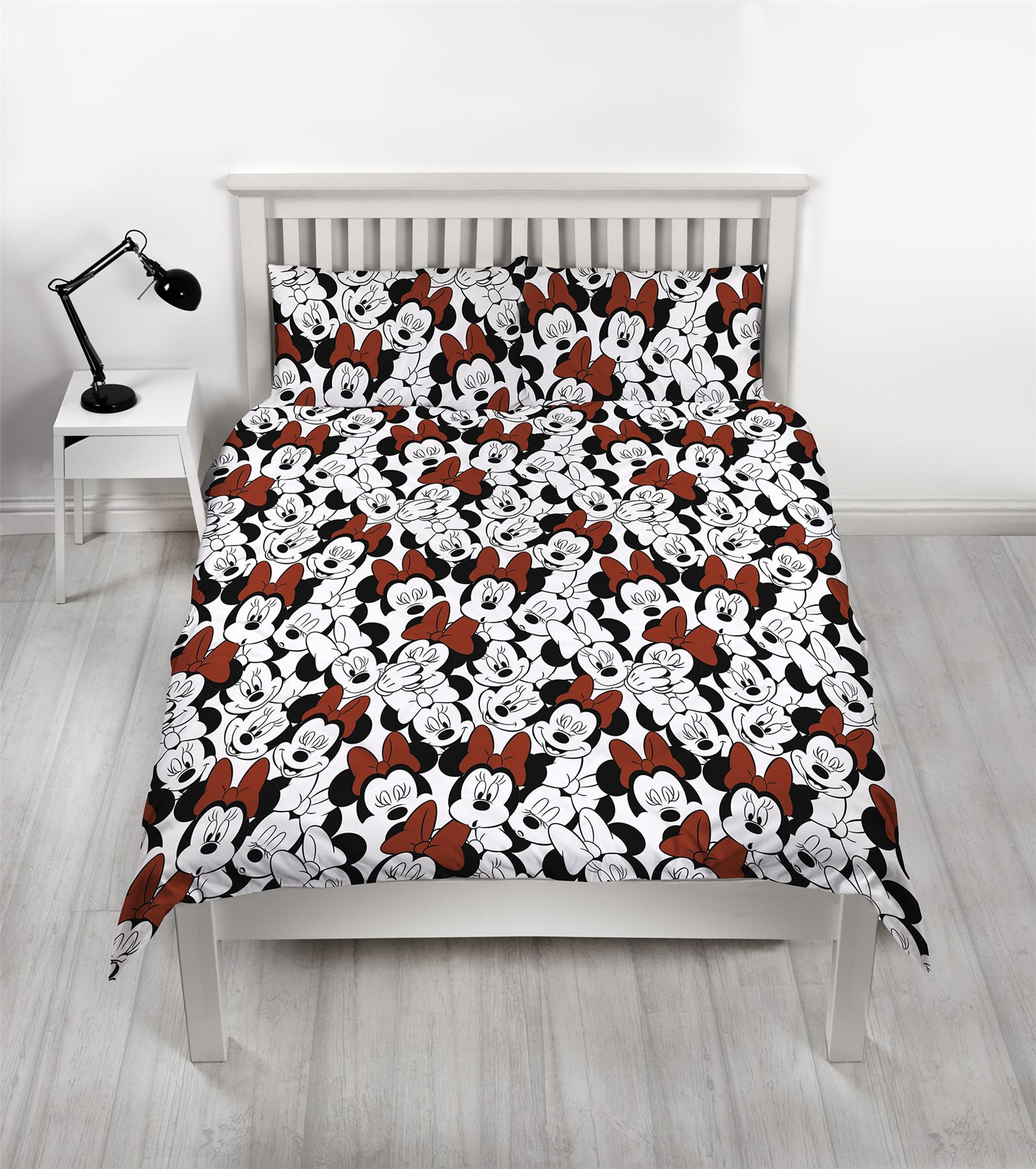 Disney-Minnie-Mouse-039-Cute-039-Single-Double-Duvet-Cover-Reversible-Bedding-Set thumbnail 3