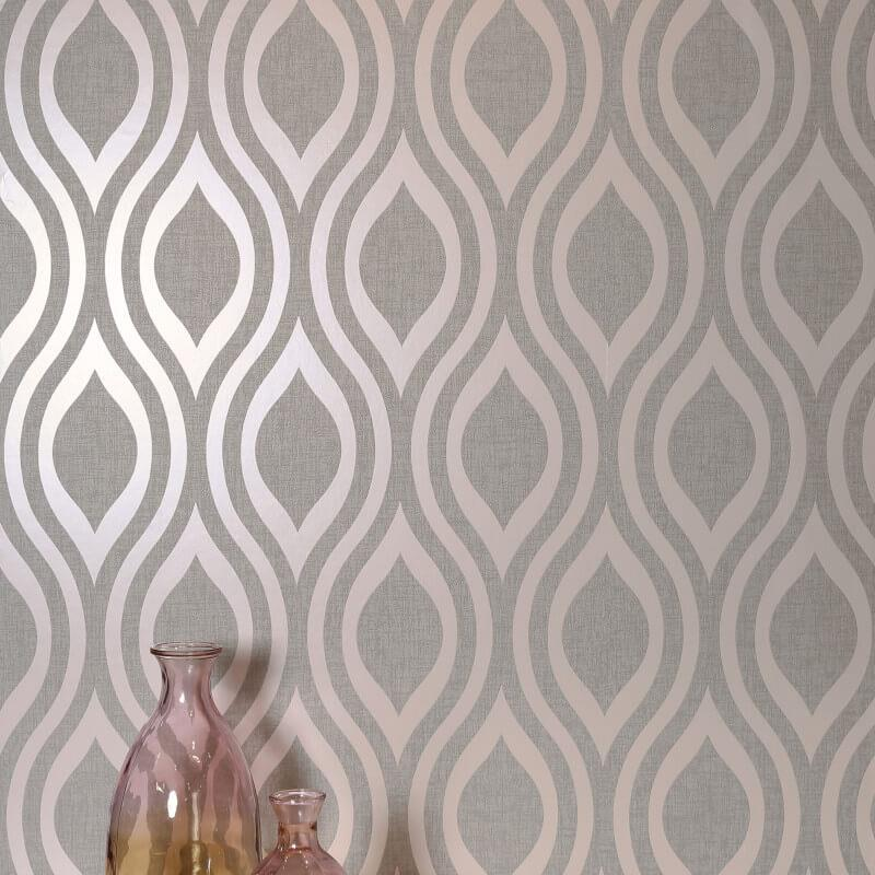 Arthouse-Luxe-Damask-Hexagan-Ogee-Geo-Metallic-Wallpaper-3-Colours thumbnail 15