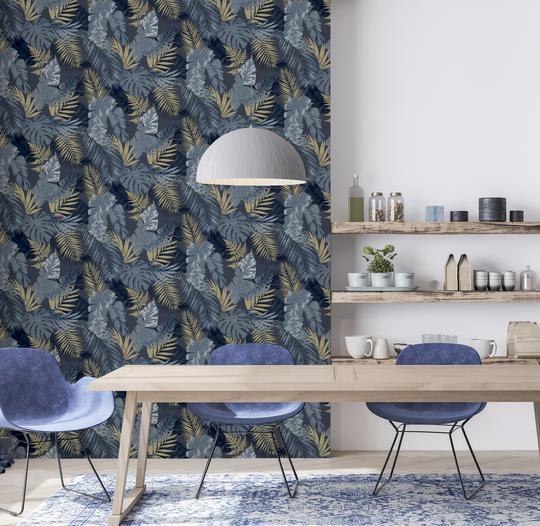 Arthouse-Soft-Tropical-Palm-Leaves-Vinyl-Textured-Wallpaper-10m-Rolls thumbnail 7