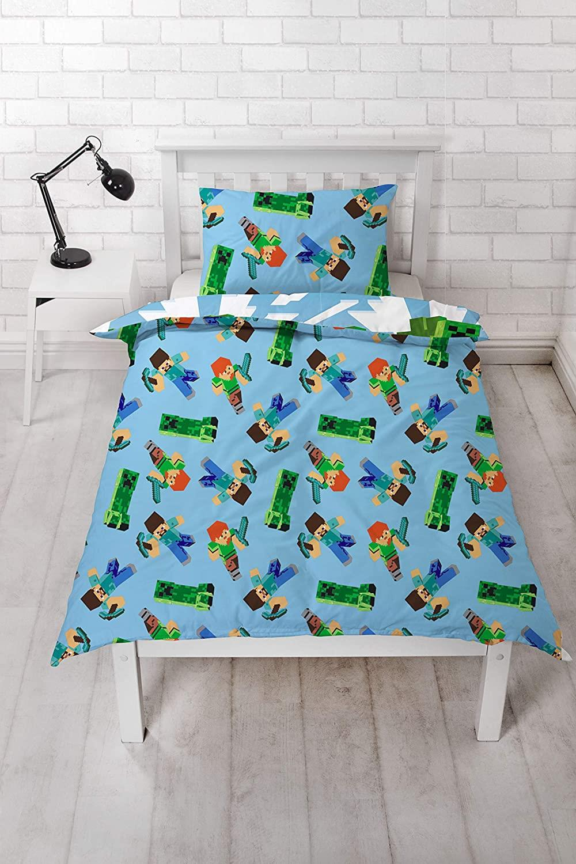 miniatura 73 - Minecraft Biancheria da letto Creeper PIUMONI Asciugamano Cuscino Coperta-venduta separatamente