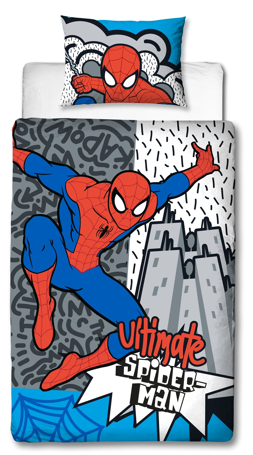 Official-Marvel-Spiderman-Licensed-Duvet-Covers-Single-Double-Far-From-Home thumbnail 5