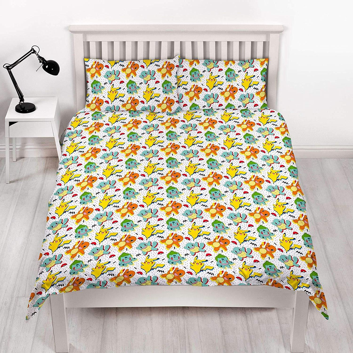 Official-Pokemon-Licensed-Duvet-Covers-Single-Double-Pikachu-Bedding-Gaming thumbnail 25