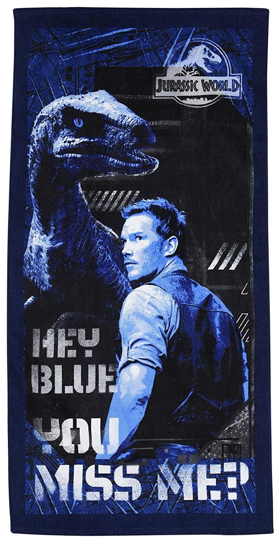 Official-Jurassic-World-Fallen-Kingdom-Cotton-Beach-Bath-Towels-Raptor-T-Rex