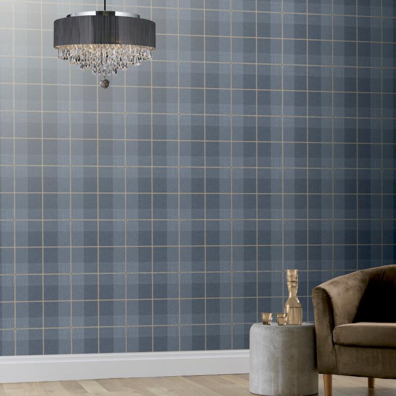 Checked-Tartan-Wallpaper-Textured-Glitter-Country-Check-Modern-Collection thumbnail 13