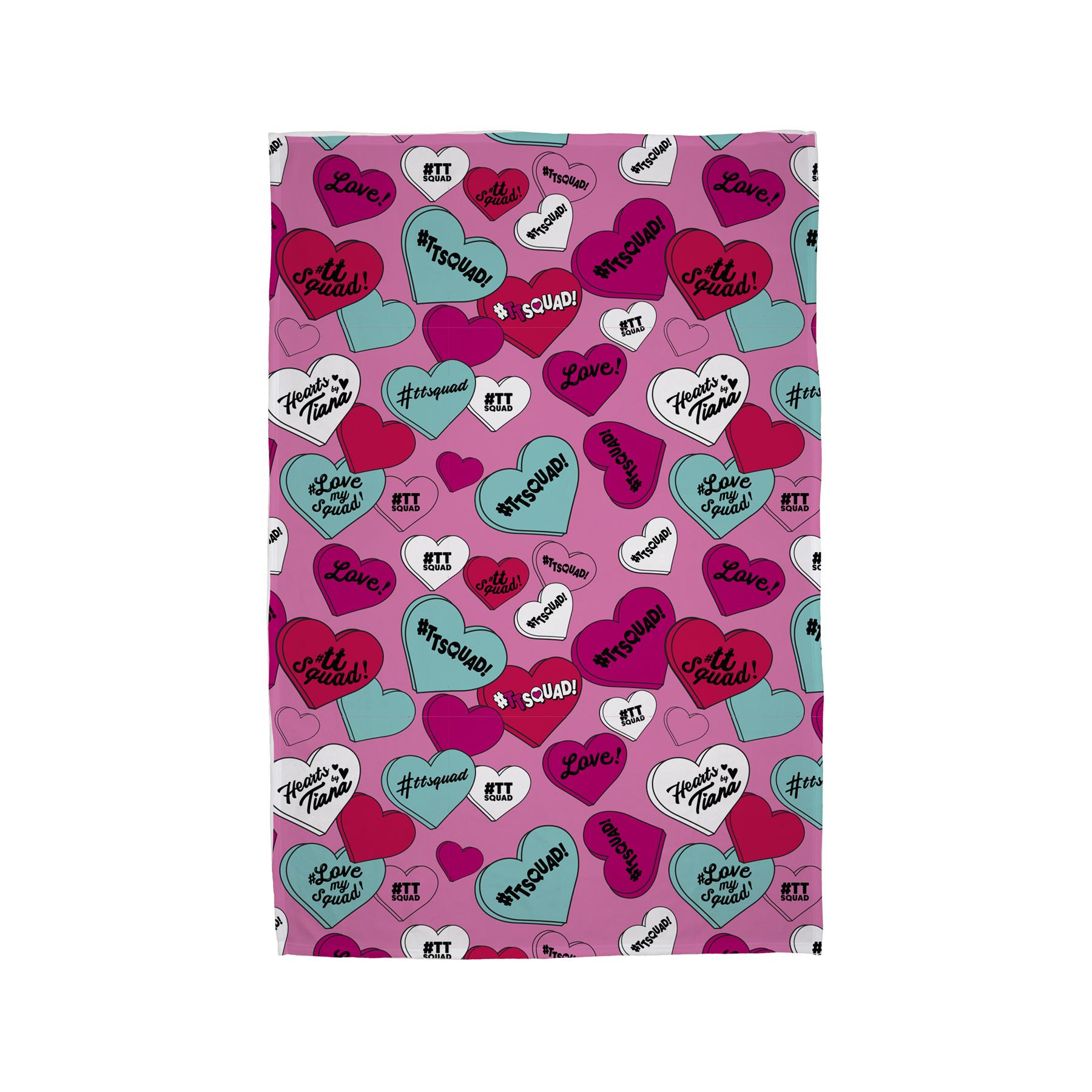 Hearts-by-Tiana-Bedding-Single-Duvet-Cushion-Fleece-Blanket-TTSquad thumbnail 5