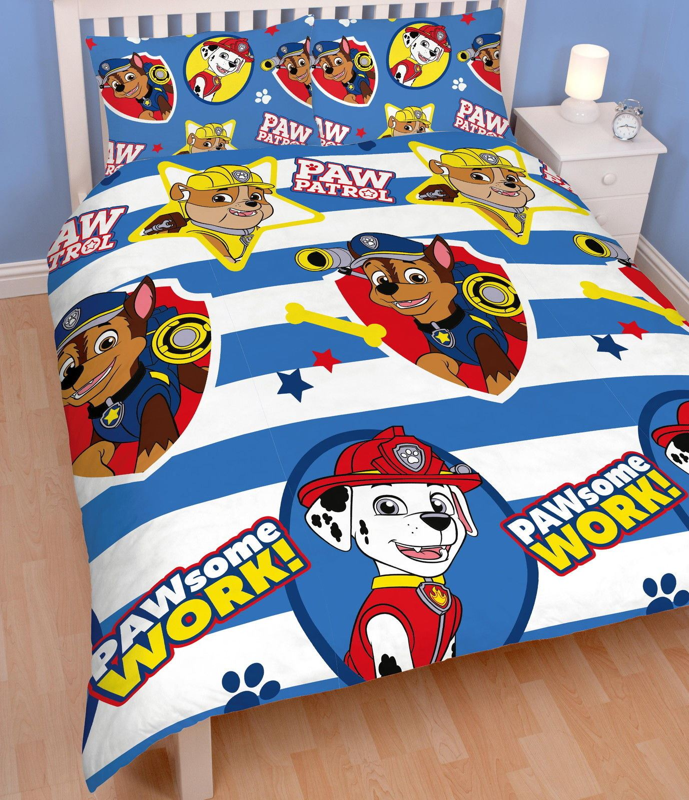 Official-Paw-Patrol-Licensed-Duvet-Covers-Single-Double-Chase-Skye-Marshall thumbnail 22