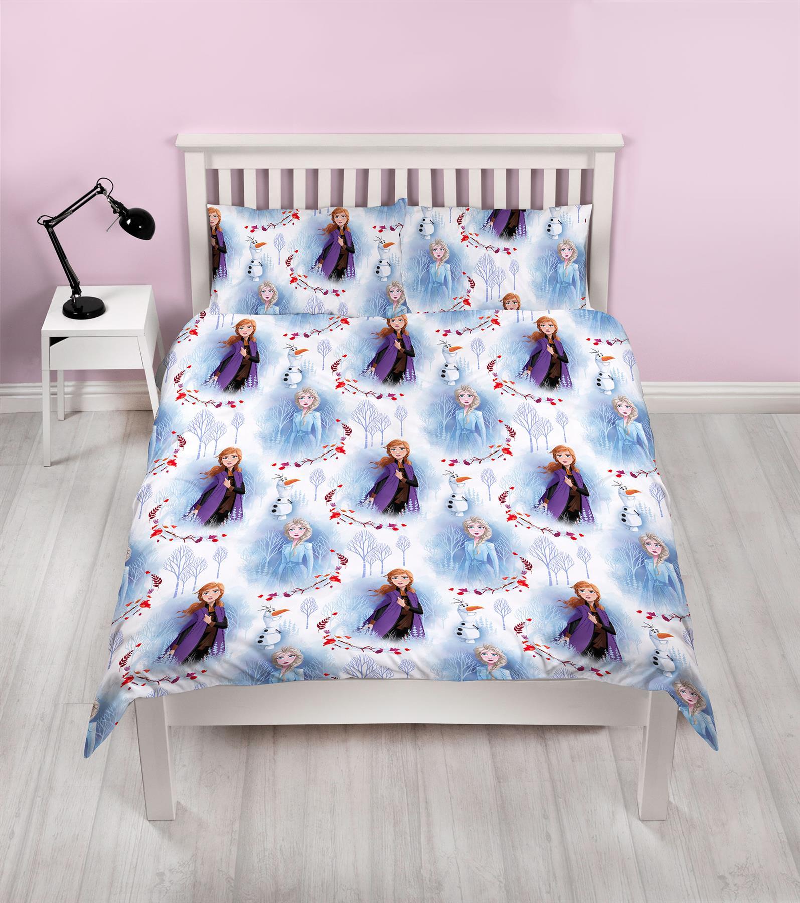Official-Frozen-2-Duvet-Covers-Single-Double-Reversible-Bedding-Elsa-Anna-Olaf thumbnail 4