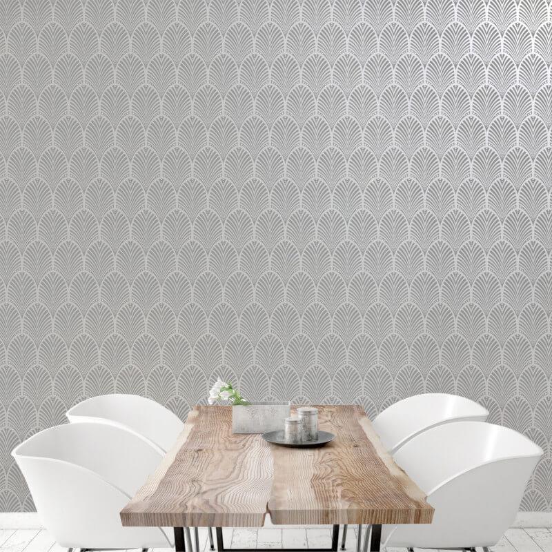 Geometric-Wallpaper-Metallic-Smooth-Textured-Apex-Triangles-Trellis-Diamonds thumbnail 74