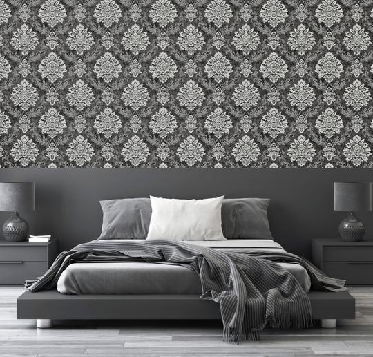 thumbnail 4 - Arthouse Palazzo Range Damask & Stripe Glitter Textured Wallpaper 10m Rolls