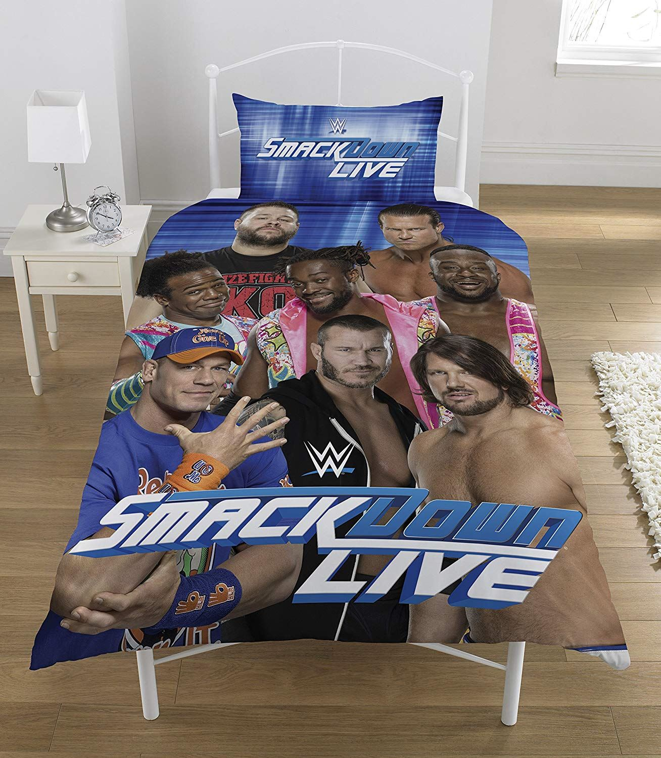 Official-WWE-Duvet-Covers-Single-Double-Bedding-Raw-Smackdown-Wrestlemania thumbnail 6