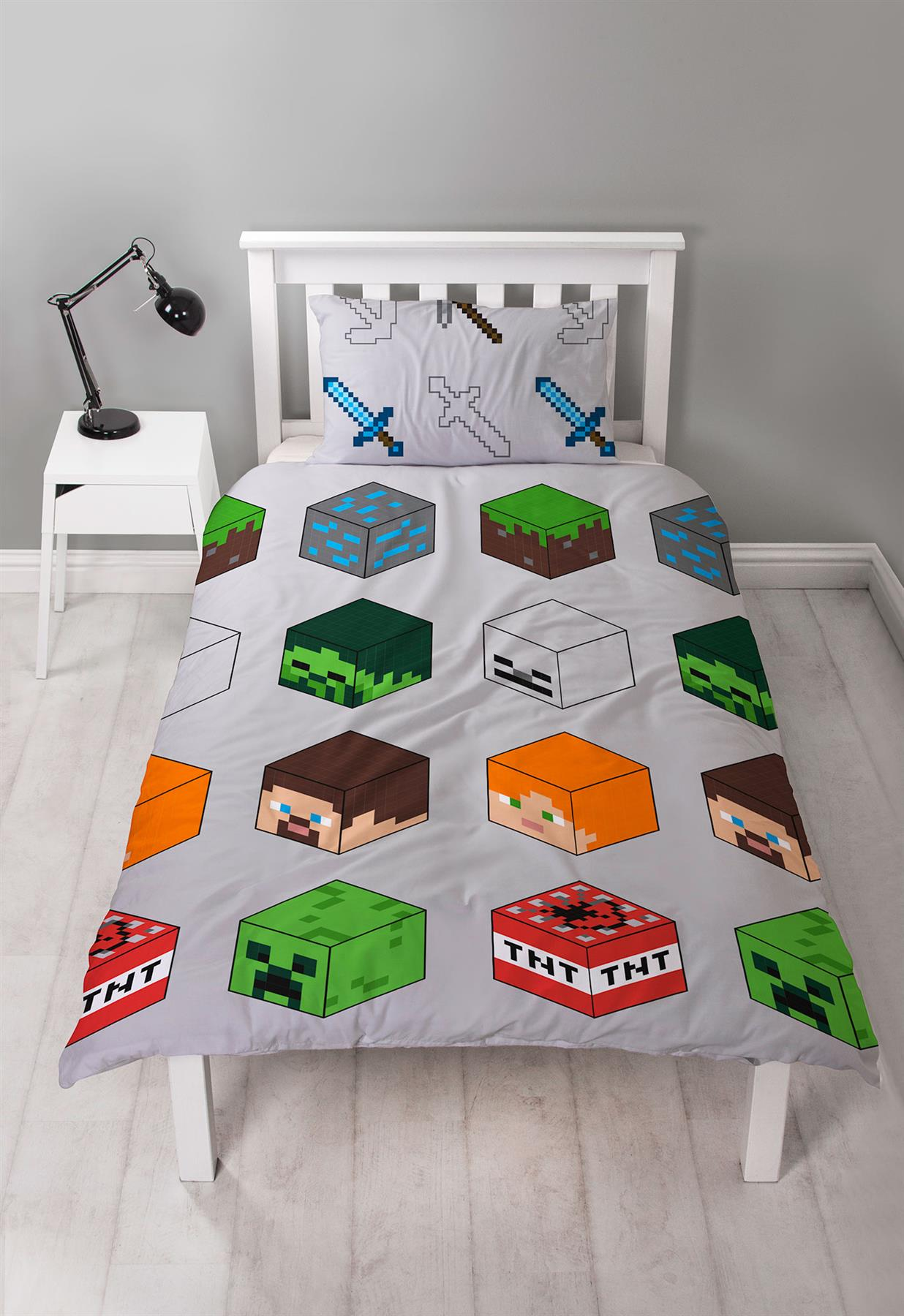 Official-Minecraft-Licensed-Duvet-Covers-Single-Double-Creeper-TNT-Bedding thumbnail 21