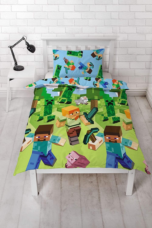 miniatura 72 - Minecraft Biancheria da letto Creeper PIUMONI Asciugamano Cuscino Coperta-venduta separatamente