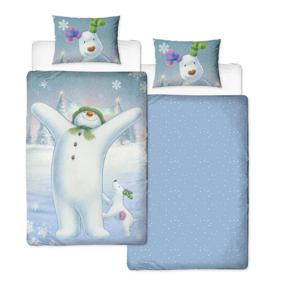 Official-The-Snowman-Duvet-Cover-Single-Double-Reversible-Bedding-Fleece-Blanket thumbnail 6