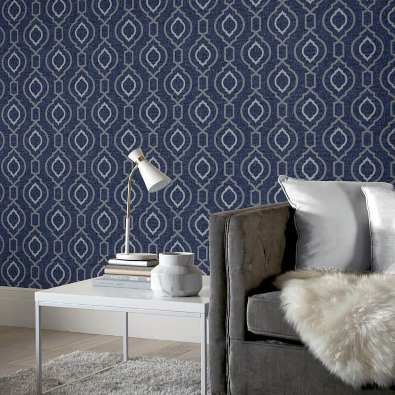 Arthouse-Calico-Range-Trellis-Floral-Dot-Stripe-amp-Plain-Textured-Wallpaper thumbnail 32