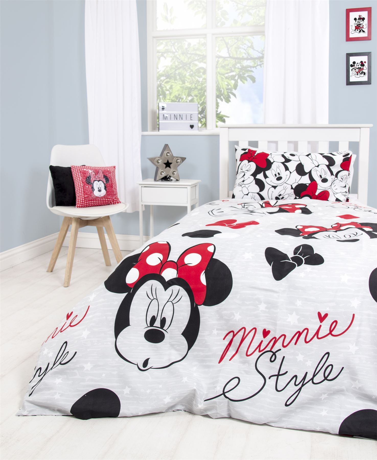 Disney-Mickey-Minnie-mouse-fundas-nordicas-SINGLE-doble-Ropa-De-Cama-Reversible miniatura 38