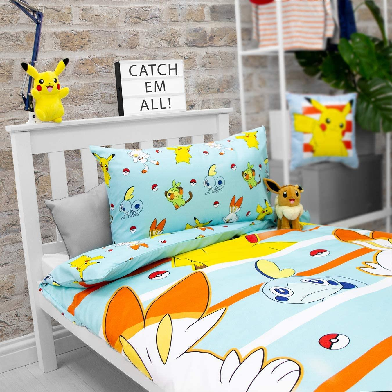 Official-Pokemon-Licensed-Duvet-Covers-Single-Double-Pikachu-Bedding-Gaming thumbnail 18