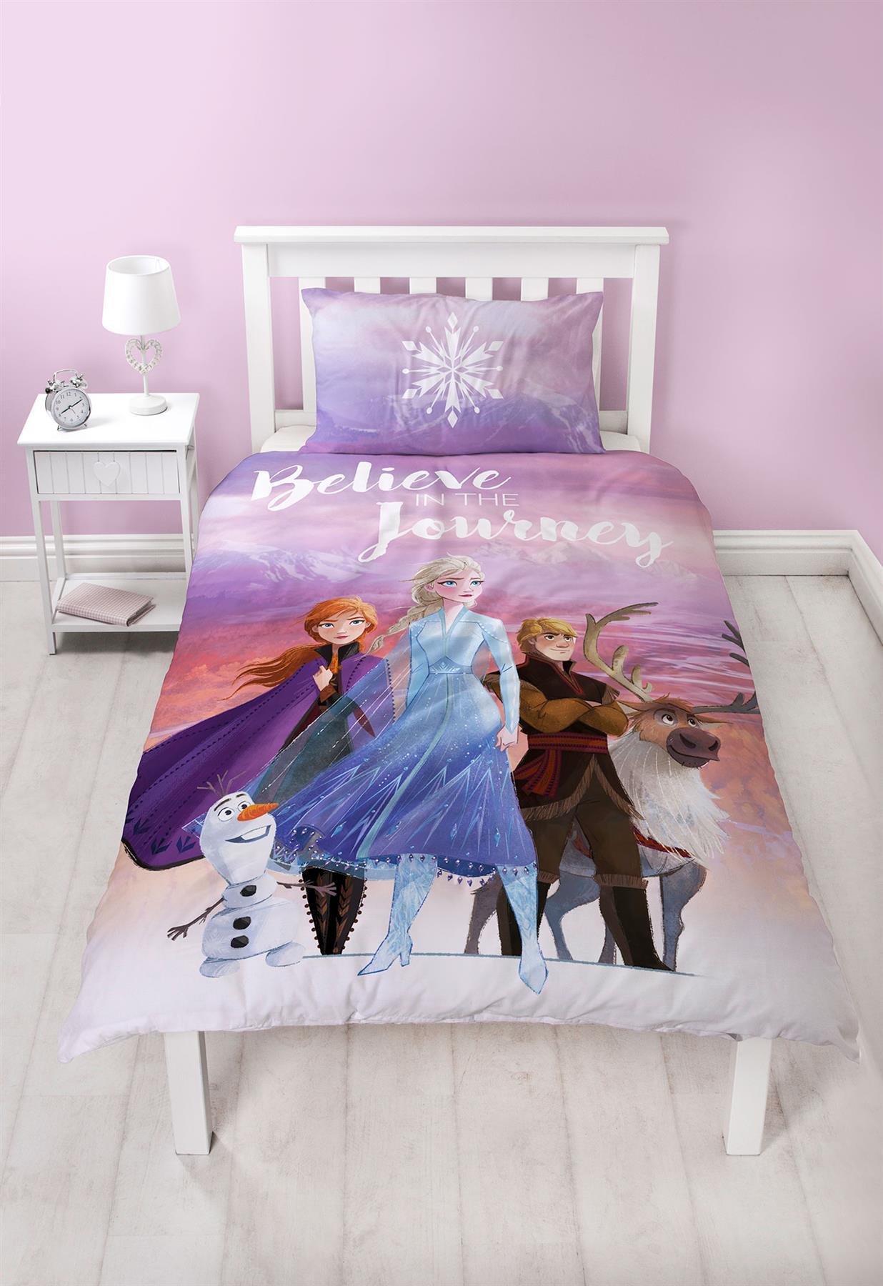 Official-Frozen-2-Duvet-Covers-Single-Double-Reversible-Bedding-Elsa-Anna-Olaf thumbnail 13