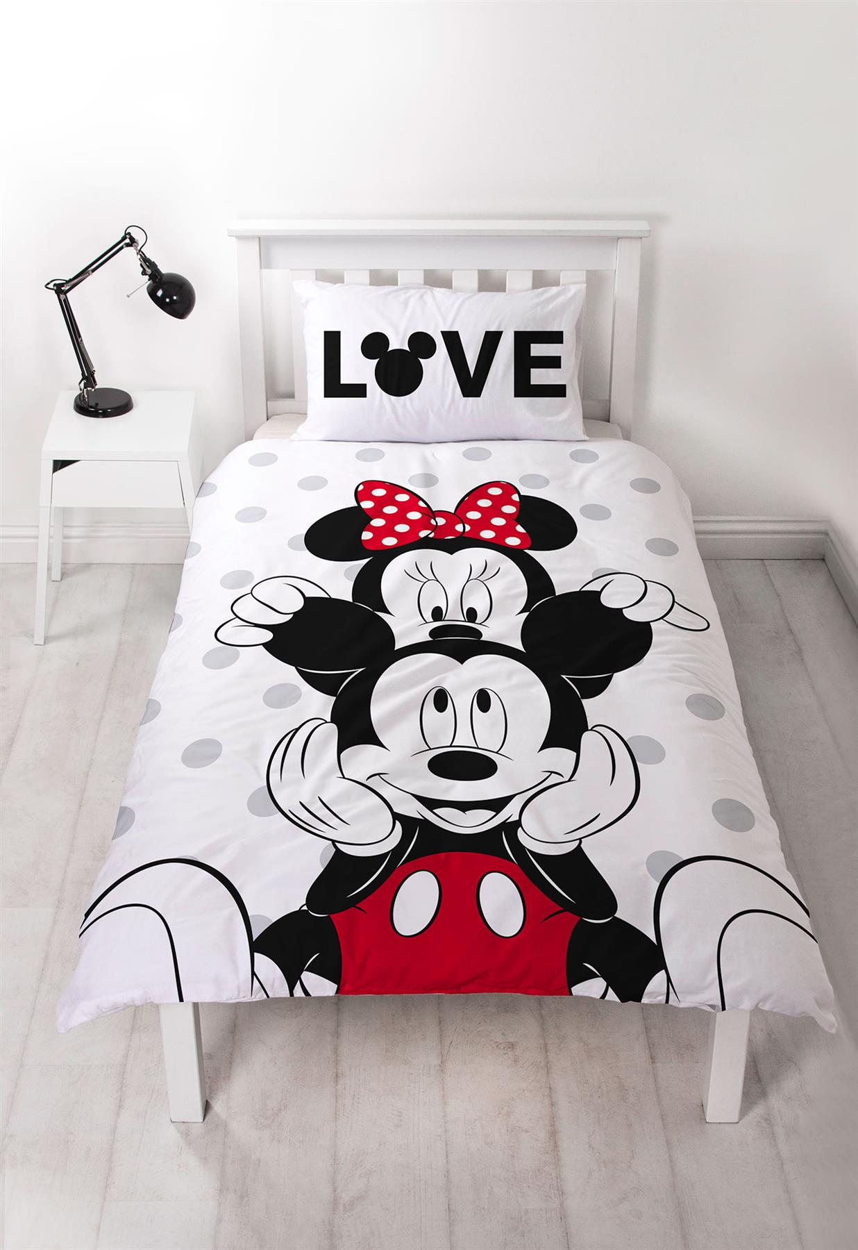 Disney-Mickey-Minnie-mouse-fundas-nordicas-SINGLE-doble-Ropa-De-Cama-Reversible miniatura 21