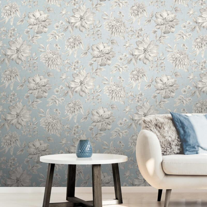 Fine-Decor-Lucia-Floral-Metallic-Effect-10m-Wallpaper-4-Colours thumbnail 3