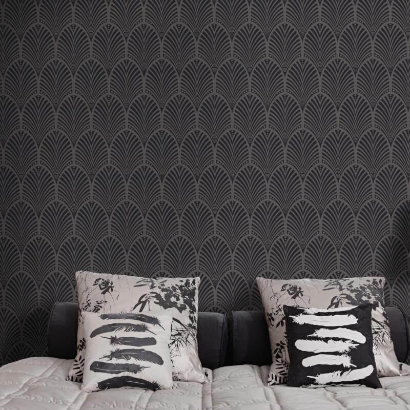 Geometric-Wallpaper-Metallic-Smooth-Textured-Apex-Triangles-Trellis-Diamonds thumbnail 17