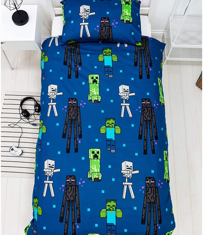 miniatura 31 - Minecraft Biancheria da letto Creeper PIUMONI Asciugamano Cuscino Coperta-venduta separatamente