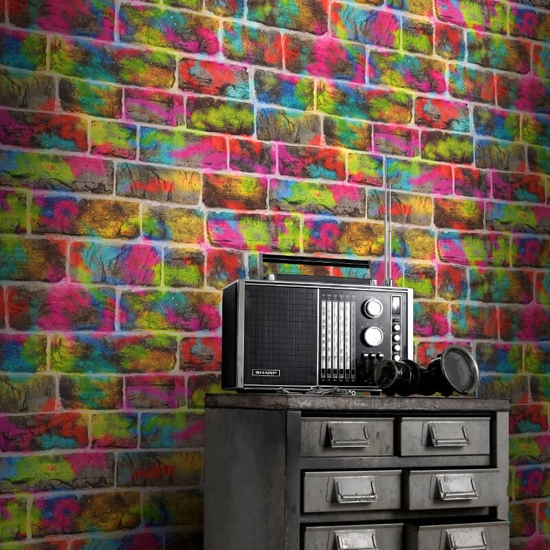 BRICK-SLATE-STONE-EFFECT-WALLPAPER-RUSTIC-RED-WHITEWASHED-GREY-BLACK-amp-MORE thumbnail 22