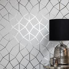 Geometric-Wallpaper-Metallic-Smooth-Textured-Apex-Triangles-Trellis-Diamonds thumbnail 37