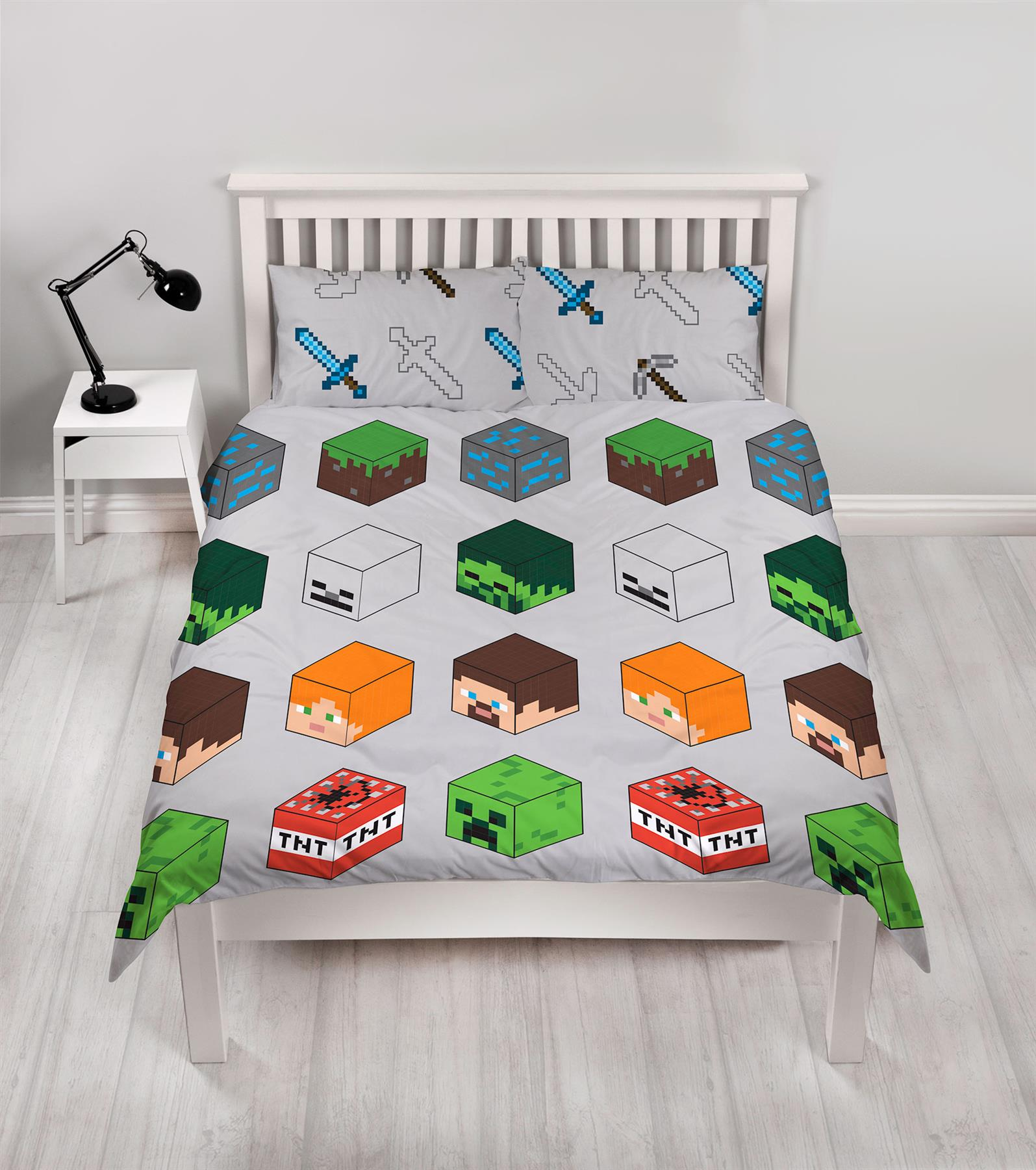 Official-Minecraft-Licensed-Duvet-Covers-Single-Double-Creeper-TNT-Bedding thumbnail 18