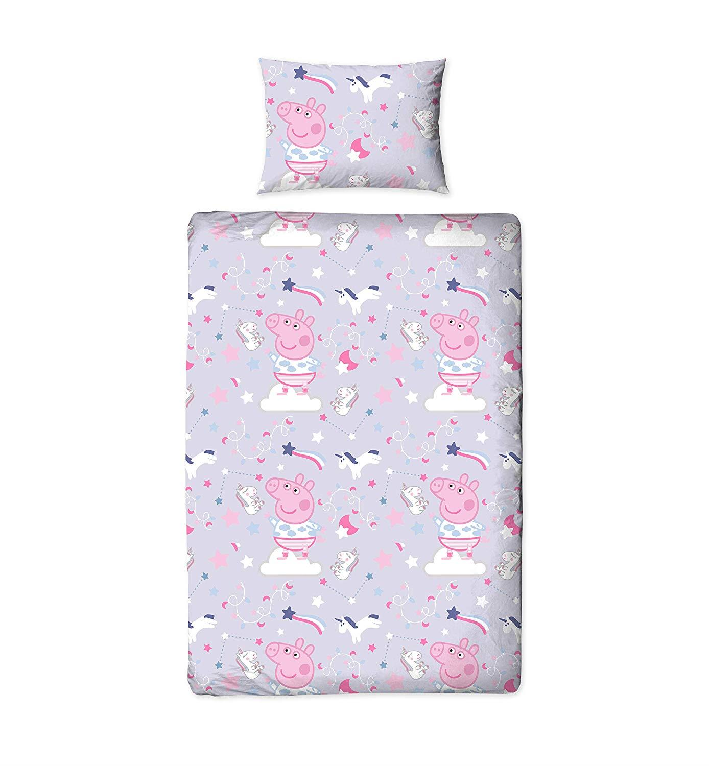 Oficial-Peppa-Pig-George-fundas-nordicas-SINGLE-doble-Ropa-De-Cama-Reversible miniatura 34