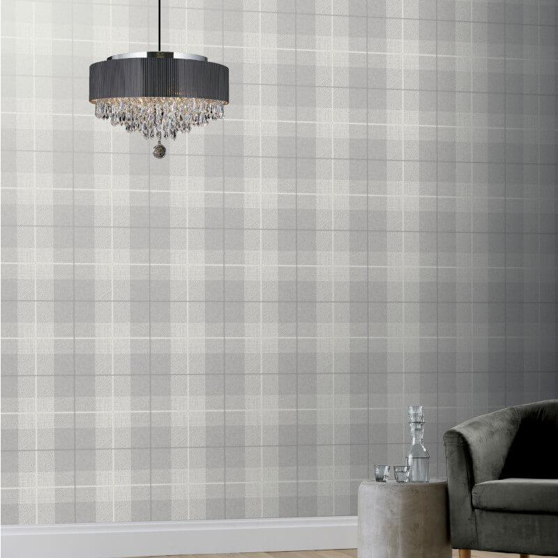 Checked-Tartan-Wallpaper-Textured-Glitter-Country-Check-Modern-Collection thumbnail 19
