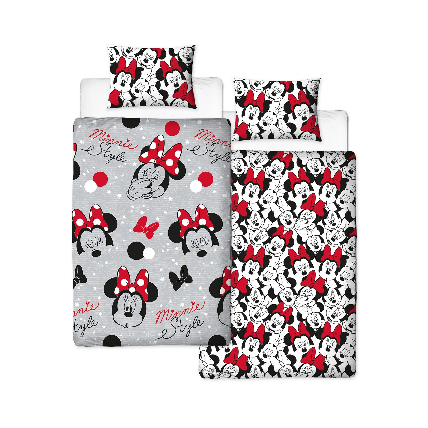 Disney-Mickey-Minnie-mouse-fundas-nordicas-SINGLE-doble-Ropa-De-Cama-Reversible miniatura 37