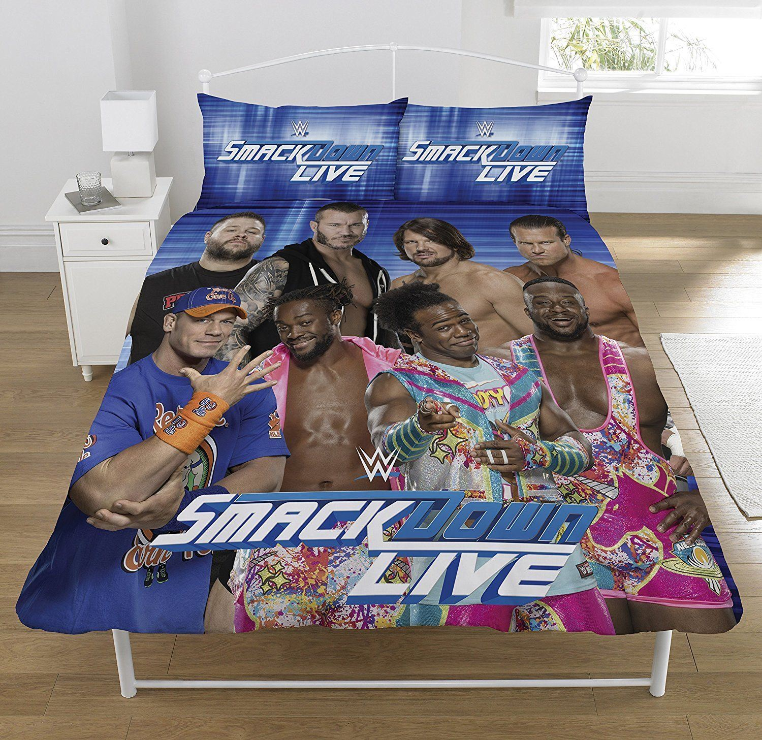 Official-WWE-Duvet-Covers-Single-Double-Bedding-Raw-Smackdown-Wrestlemania thumbnail 4