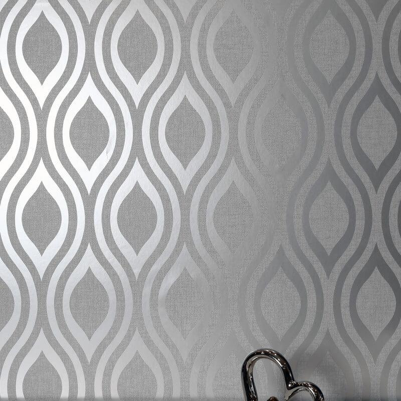 Arthouse-Luxe-Damask-Hexagan-Ogee-Geo-Metallic-Wallpaper-3-Colours thumbnail 19